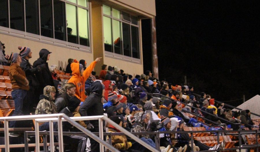 Soccer had an active audience on Nov. 8 at Liston Stadium. The baseball team was present and very vocal and ready to cheer on the men's soccer team.