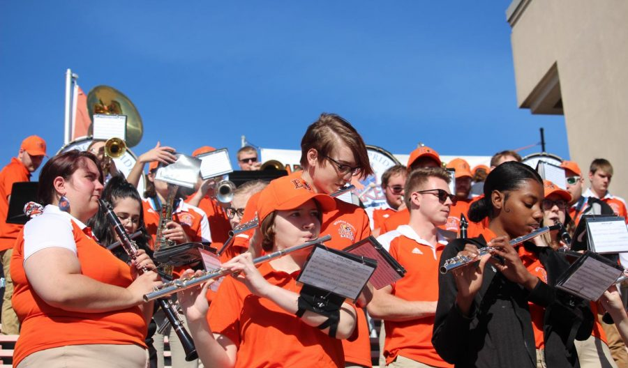 The Baker University Wildcat Band playing at the Football game fought against Benedictine College. The Wildcats fought strong and it paid off, the football team won 30-10.