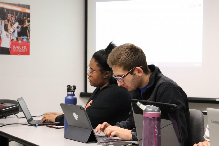 Juniors Dylan Kort and Ajhanae Franklin serve on the executive board for Student Activities Council. The exec board consists of five members that focus on planning events for the students on campus.