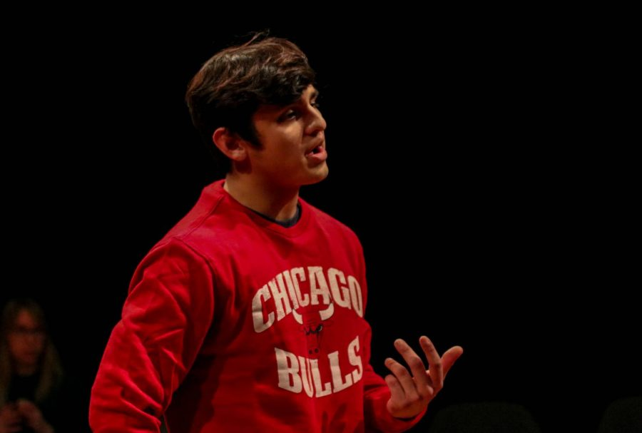 Sophomore Gabe Flores, stars as Jack. Jack and Jill are featured as the only two characters.