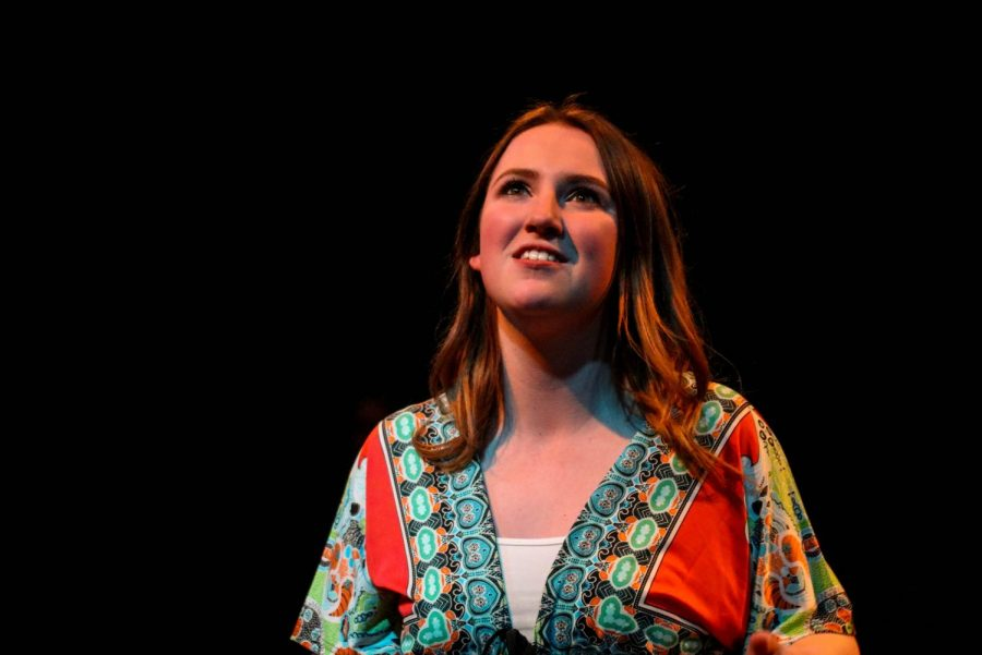 Senior Erynne Jamison stars as Jill. Rather than performing the production in Rice Auditorium, it will run in Darby Hope Theatre.
