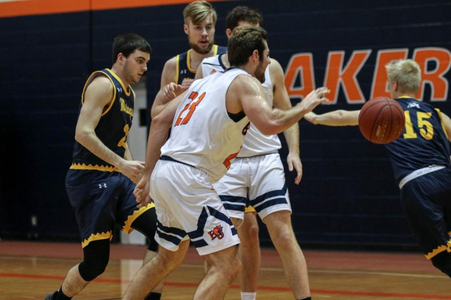 Senior Brett Elifritz had 18 points and seven rebounds against conference opponent, Mount Mercy.