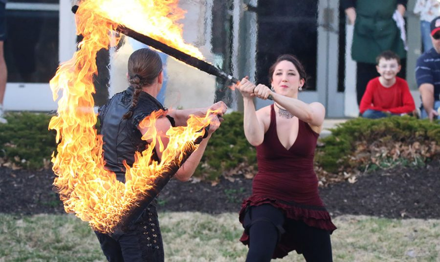 Fire and Ice: 'Tricks of the Light' performs on campus