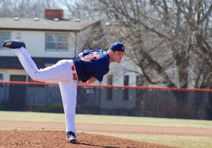 Junior Jack Castrop during his outing in game one. The Wildcats next home appearance will be on March 21 against Central Methodist University.