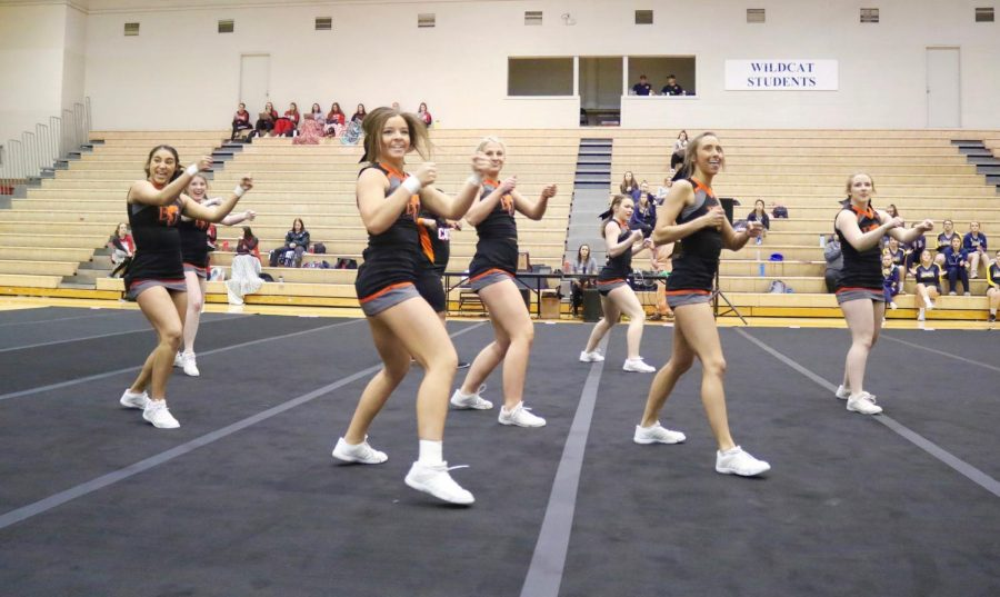 The cheer team finishes it's 2019-20 season with an eighth place finish in the Midwest Regional Qualifier.