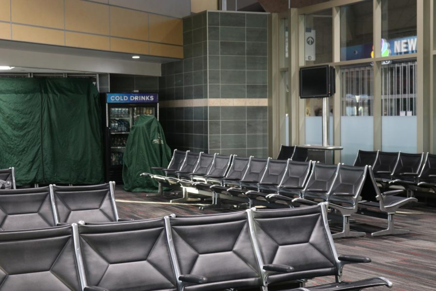 The KCI airport works to eliminate spread of COVID-19, by shutting down restaurants and services in the airport.