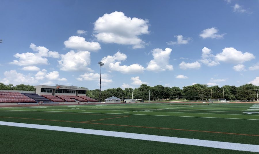 Baker Wildcat football players have returned to workouts hosted at Liston Stadium in order to promote social distancing during strength and conditioning exercises.