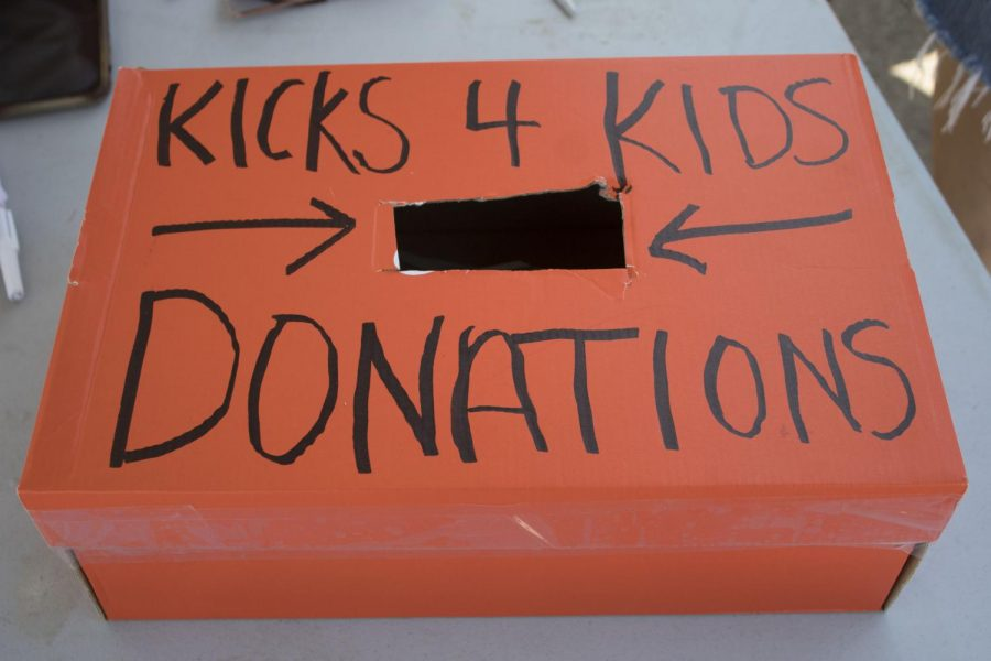 Donations given at Kicks 4 Kids event held September 5th