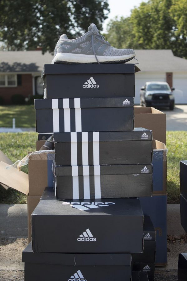 Nice Shoes from Adidas tennis shoes and cleats were also donated.