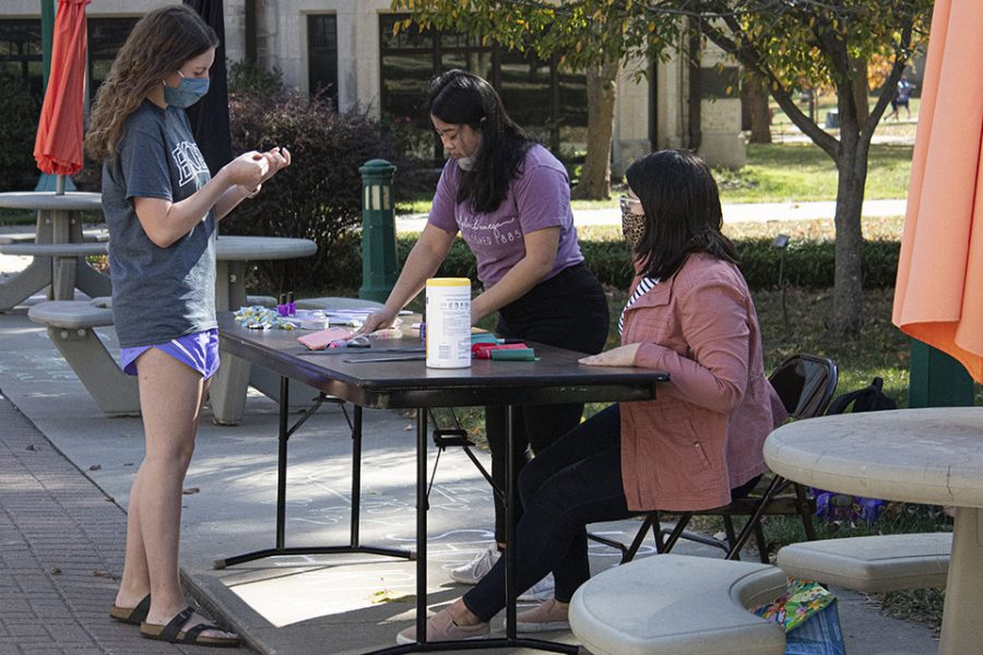 Sophomore Alpha Chi Omega member Grace Duddy took part in volunteering for the event.