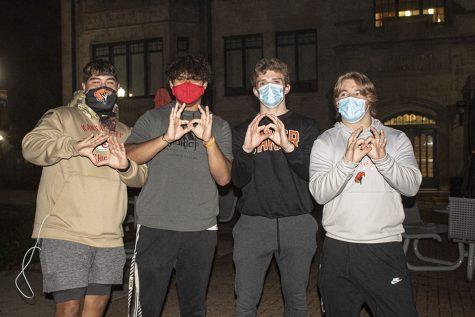 Freshmen Rocky Juarez, Brandan Pena, Roman Bushek and Evan Bishop help represent ZTA at Smore