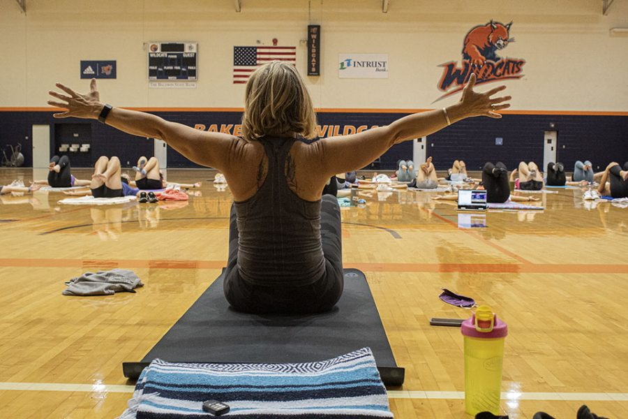 Yoga was led by Lora Rimmer of the Om Grown Yoga Collective.
