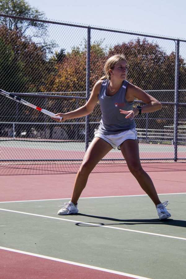 Junior Cortlyn Wolf is a returning player for the Baker University Women's Tennis team.