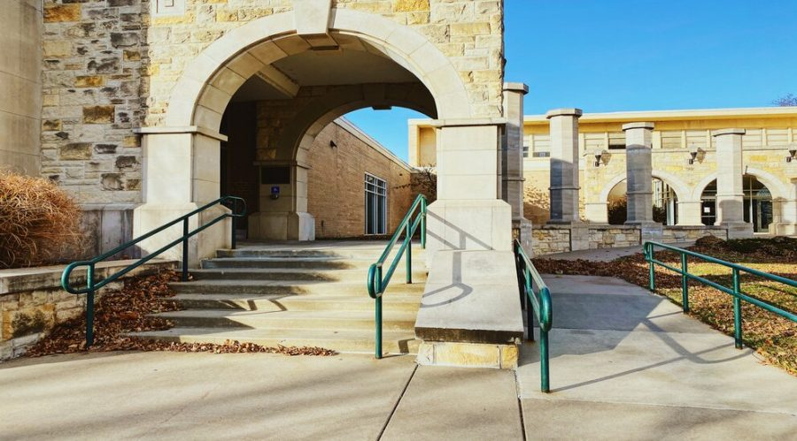 Hartley Plaza offers both stairs and a ramp option to ensure students