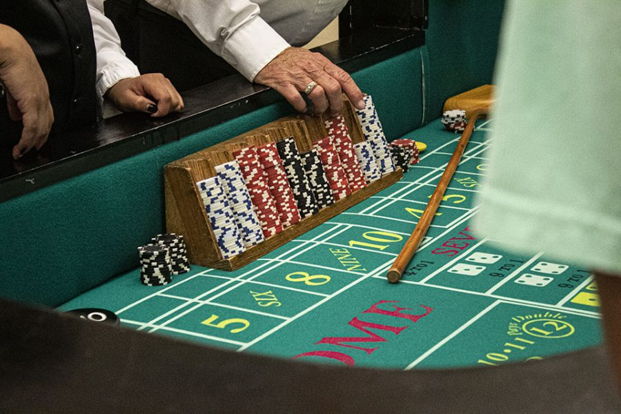 Craps was a popular game that students enjoyed.