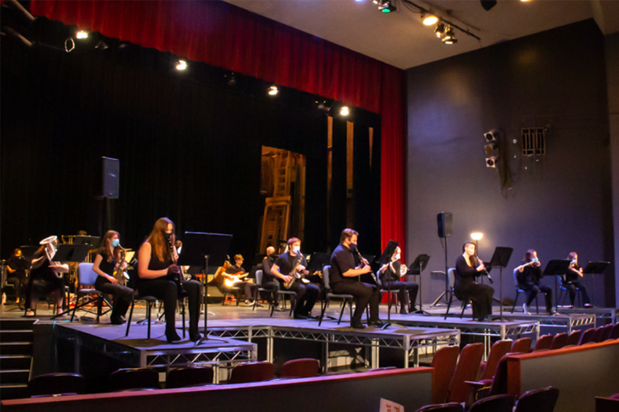 On Mar. 25, Baker University band gathered together to perform for a limited audience in Rice Auditorium.
