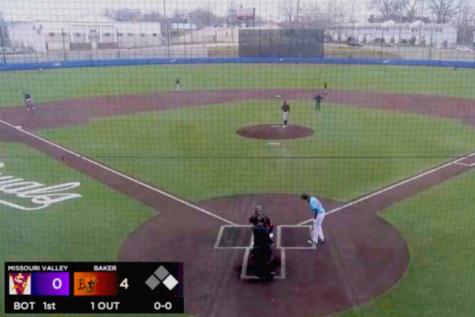 Baker University Baseball sweeps Missouri Valley in four-game match.