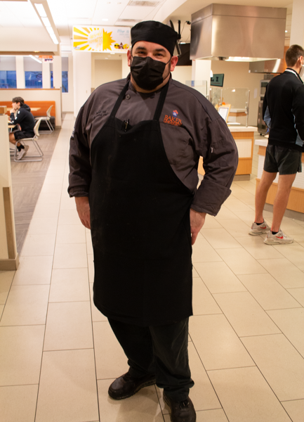 The Head Chef of the Fire and Ice free meal posed for a photo.
