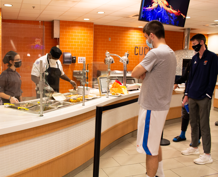 The free meal was enjoyed by many students.