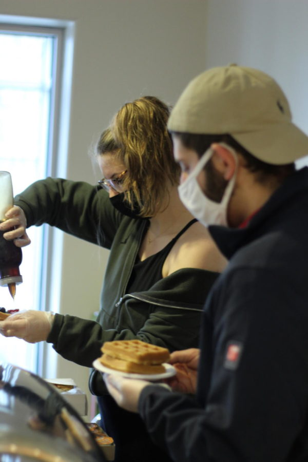 On Mar. 24, Student Activities Council (SAC) hosted Waffle Wednesday from 11:00-1:00 in the Long Student Center. The organization offered waffles with various toppings to choose from.