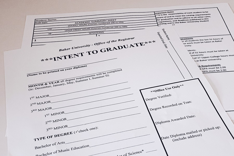 Many forms of paperwork are required to prepare students for the Degree Audit process.