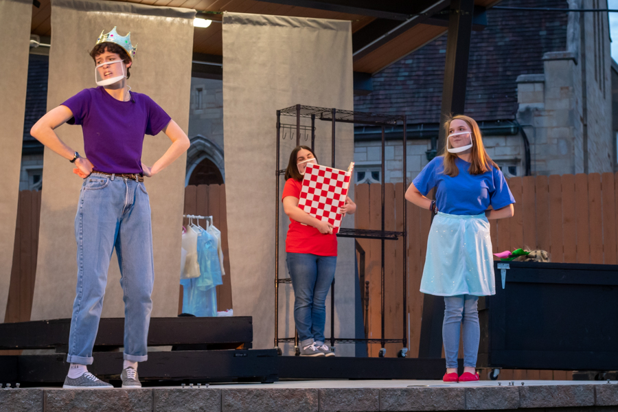 Sophomore Sami Aceto, Senior Morgan Masters and Freshman Olivia Harms completed their last dress rehearsal before the final performances on Apr. 17 and 18.