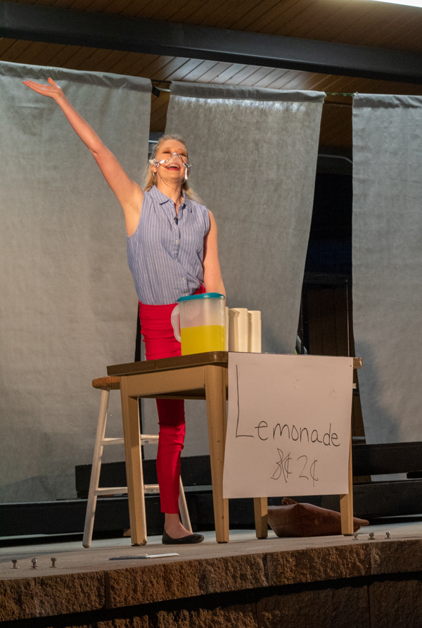 Nutsch performs on stage during the second act. The performances take place in Sullivan Square.