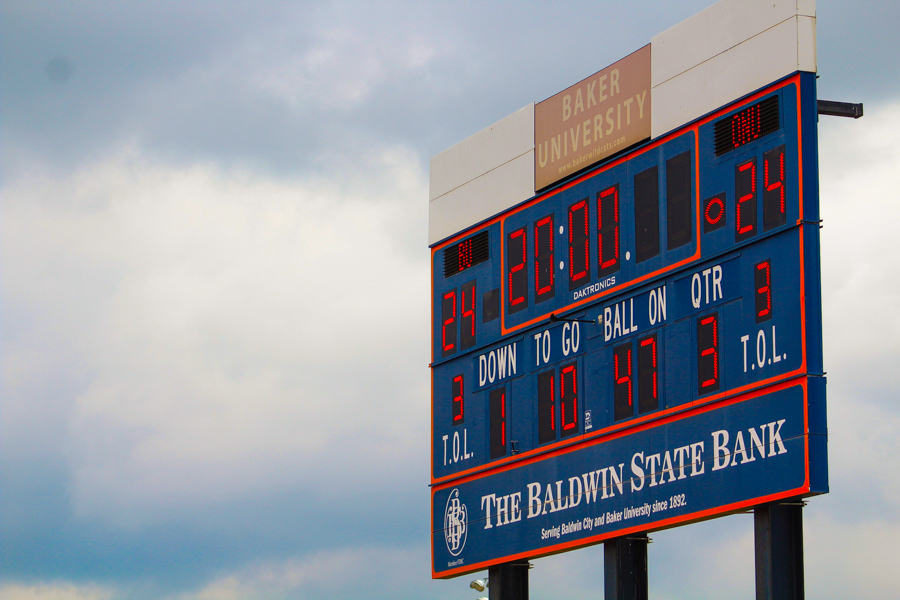 At halftime, the football team was tied with Olivet Nazarene University 24-24. The Wildcats won with a score of 59-54.