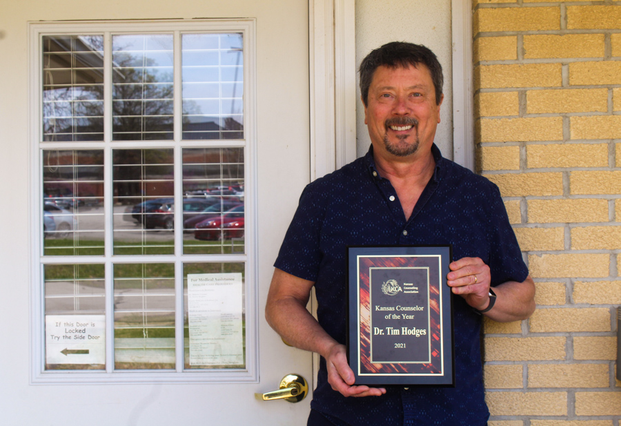 Counseling Center Director Tim Hodges receives Kansas Counselor of the Year.