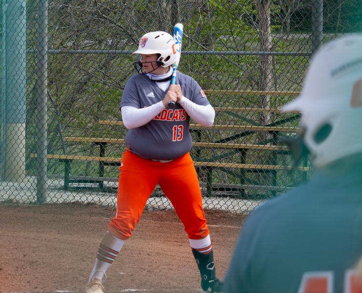 Senior Lexi Lowrance bats against Missouri Valley College.