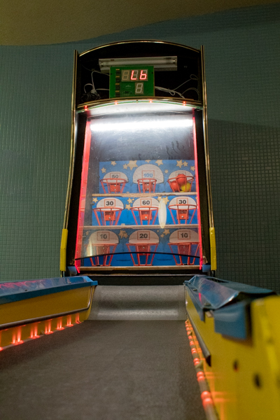 A skee-ball machine was a fun addition that students can utilize in the lobby for free.