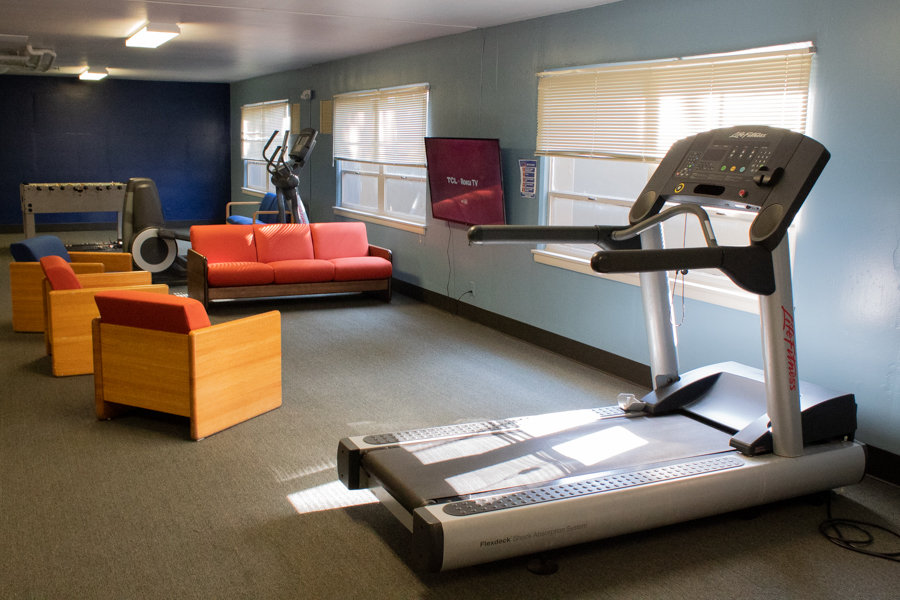 Irwin added three new exercise machines to the basement for residents convenience.