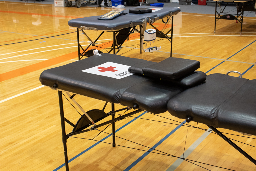 The American Red Cross received blood donations from students and Baldwin City community members.