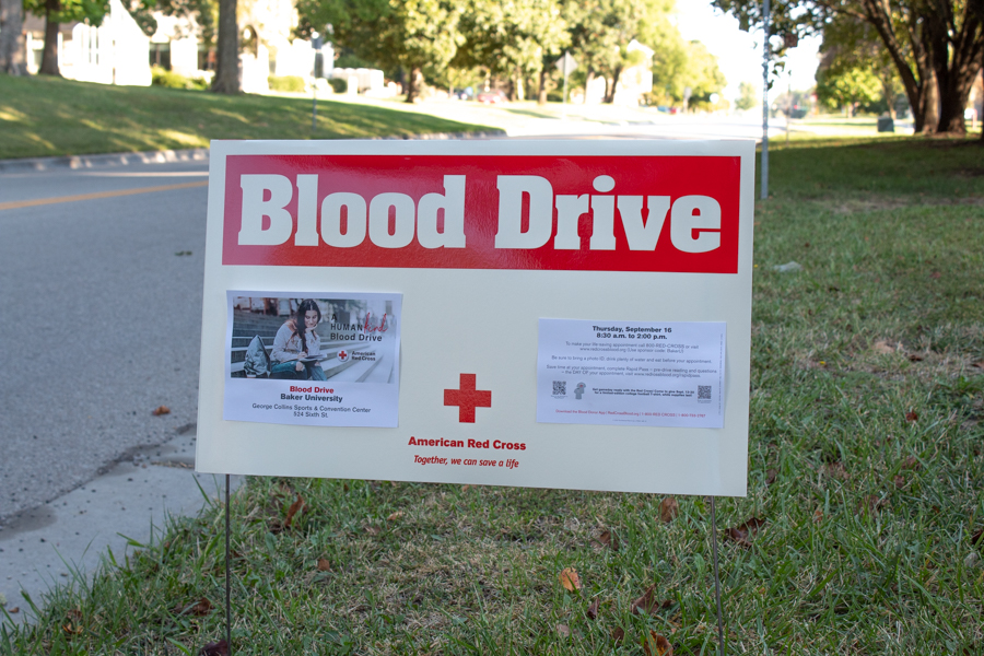 Baker Universitys Pre-Health Club hosted a blood drive Sept. 16 at Collins Gym.