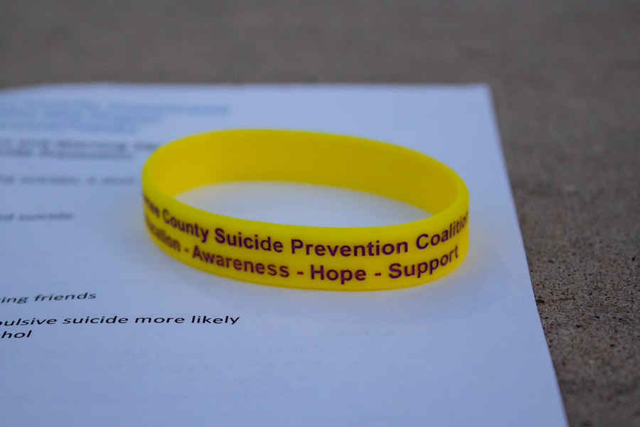 Each participant in the Mental Health Empowerment talk received informational sheets as well as suicide prevention bracelets. Glass ended her speech by emphasizing to the students: You matter. You are important. You are of value. You are lovable.