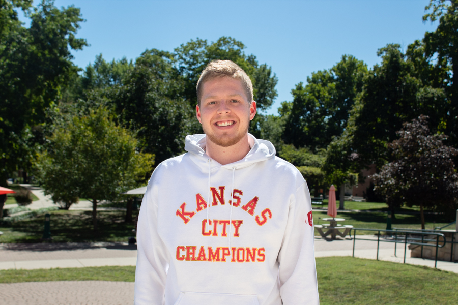 Senior Tyler White is the grand prize Book Project winner with his Community America Credit Union internship over the summer, winning $1,500.