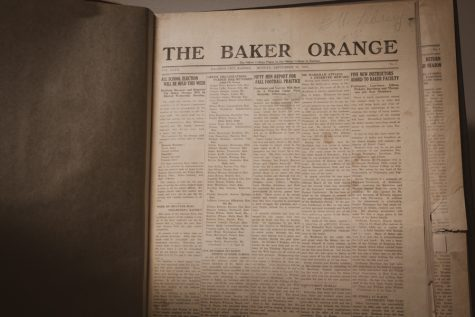 Baker University has been given a grant to digitize old copies of the Baker Orange newspapers, starting at papers dating back to 1925.