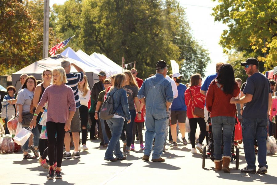 Visitors travel from all over the area tp enjoy the venders and events.