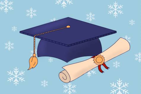 Winter commencement ceremonies have been discontinued by the university. Students who graduate in the winter will e encouraged to walk in the spring ceremony.